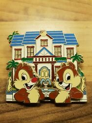 Disney Soda Fountain Pin Trading Event Chip And Dales House Suprise Pin Le 300