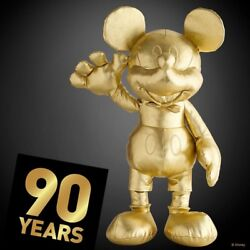 Official Disney Mickey Mouse Memories Gold 90th Birthday Large Plush Soft Toy