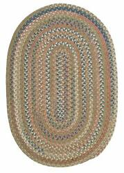 Colonial Mills Braided Rugs in Olive Green Multi Classic Nylon Area Rug CV69