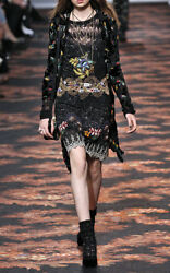 Etro Runway Nwt Ad Campaign Sequin Embellished Embroidered Dress Size It38 8000