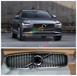 Chrome Front Center Grille Mesh Vent Grill Cover For Volvo S90 2016 2017 2018