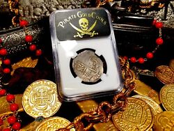 Spain 1616 Dated Atocha Era 4 Reales Ngc 35 Silver Pirate Gold Coins Treasure