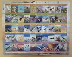 Marshall Islands 2004 - Worldand039s Greatest Aircraft - Sheet Of Fifty Stamps - Mnh