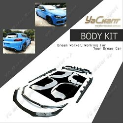 Carbon/frp Wide Body Kit Lipskirtfender For 2011-2013 Scirocco R Kzt Style