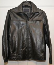 New Banana Republic Luxe Leather Jacket Slim Fit