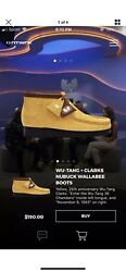 Clarks X Wu Tang Clan Wallabees Hip Hop Limited Edition Rare Size 8.5 Exclusive