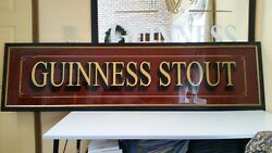 Extra Large Guinness Stout Mirror One Of A Kind Irish Pub Bar Back Tavern Wow