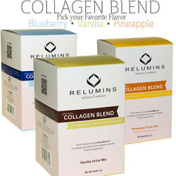 Relumins Collagen Type I And Iii Drink Mix - Skin Whitening + Anti-aging 10/20pack
