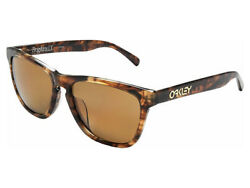 Frogskins Lx Polarized Sunglasses Oo2039-05 Brown Tortoise/bronze Asian