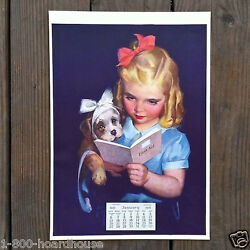 Vintage Original Learning By Doing Litho Calendar 1930s Full Pad Nos Unused
