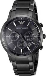 Emporio Armani AR2453 Chronograph Black Ion Plated Stainless Steel 43mm $88.00