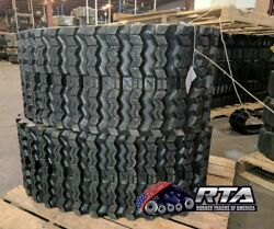 Two Rubber Tracks For Cat 249d 400x86x49 Zig Zag Tread 16