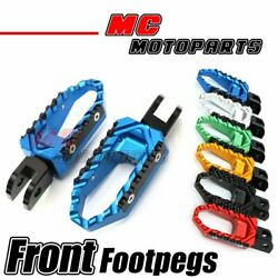 Billet Front Wide Touring Foot Pegs Fit Yamaha Mt-07 Mt-09 Yzf R1 Yzf R6 Fz1 Fz6