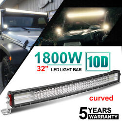 32inch 1800w Curved Led Light Bar Spot Flood Offroad For Ford Ute 4x4 Driving 30