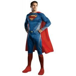 Superman Costume Adult Man of Steel Halloween Fancy Dress