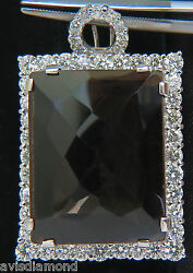52.34ct Natural Fancy Brown Topaz Diamond Necklace And Omega 14kt +