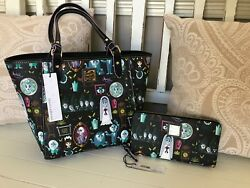 Disney Dooney Bourke Haunted Mansion Tote & Wallet Set Limited Sold Out NWT