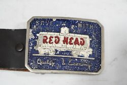 Old Red Head Gas Belt And Buckle C My Other Ebay Auctions 4 Porcelain Neon Signs