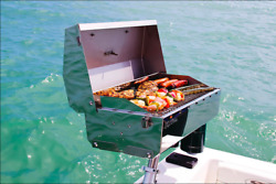 Portable Boat Gas Grill + Mounting Features Marine Bbq Sailboat Barbecue Camping