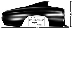 Chevychevrolet Chevelle Quarter Panel Without Lamp Holes Right 1970-72
