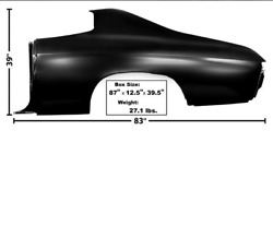 Chevychevrolet Chevelle Quarter Panel Without Lamp Holes Driver Left 1970-72