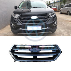 For Ford Edge 2015-18 Sport Style Gloss Black Abs O Front Hood Grid Grill Cover_