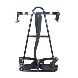Golf Cart Bag Rack / Bag Attachment For Rear Seat Fits On Safety Bar