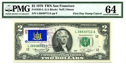 $2 DOLLARS 1976 FIRST DAY STAMP CANCEL US STATE FLAGS SET OF 50 VALUE $50000