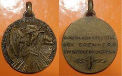 Italy Fascist Guard Medal At The Brenner Frontier - Medaglia Guardia Brennero