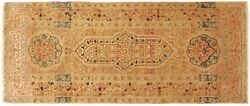 Antique Decorative Oriental Rug In Small Runner Size With Free Shipping