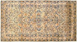 Antique Decorative Oriental Floral Rug In Small Runner Size With Free Shipping