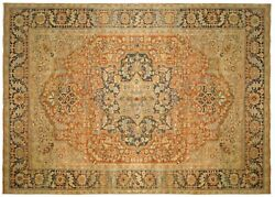 Vintage Persian Heriz Oriental Carpet, size 12'6 x 9'7 with FREE SHIPPING