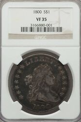 1800 1 Draped Bust Early Dollar Vf35 Ngc