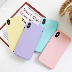For iPhone XS MAX XR 6 7 8Plus Freshness Simple Pure Color Candy Cheap Soft Case