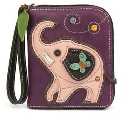 Charming Chala Good Luck Elephant Purse Wallet Credit Cards Coins Wristlet