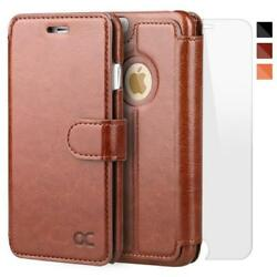 OCASE iPhone 6 Plus Case 6S [Screen Protector Included] Leather Wallet [Slim...