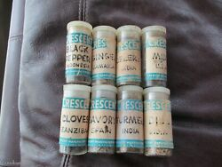 Crescent Manufacturing Co Seattle Wa Vintage Spice Bottles - Mccormick 8 Spices