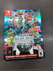 New Super Smash Bros Ultimate Special Edition W/ Pro Controller Nintendo Switch