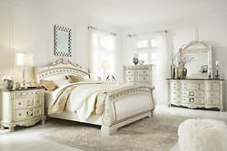 Ashley Cassimore B750 King Size Sleigh Bedroom Set 6pcs in Traditional Style