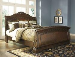 Ashley North Shore B553 King Size Sleigh Bedroom Set 5pcs in Traditional Style