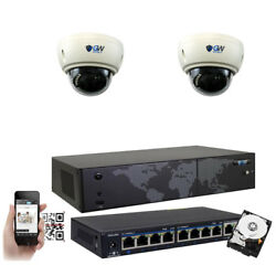 8ch Nvr 2 4k 8mp Motorized Zoom Microphone Ip Poe Dome Security Camera System