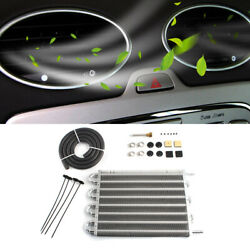 Universal Aluminum Car Auto Tube Type Air Conditioning Condenser Set Silver HQ