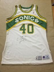Shawn Kemp Grey Flannel & JSA Sonics RARE game worn signed jersey 1st All-Star