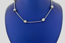 14k White Gold 2.50 Ct Diamond By The Yard Necklace 22.4gm 26 S104130