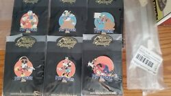 ULTRA RARE LE 100 DISNEY AUCTIONS PIN TRADER 2003 COMPLETE 6 PIN SET SHIPS FREE