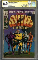 Marvel Super-Heroes #18 CGC 6.0 FN Signed STAN LEE 1st Guardians of the Galaxy