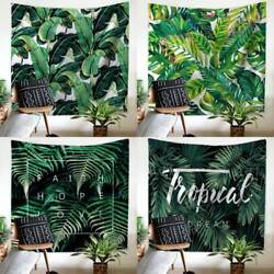Tropical Leaves Tapestry Mandala Wall Hanging Bedspread Throw Art home Decor