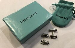 And Co .925 Sterling Silver 1837 Bar Cuff Links Classic With Case And Box