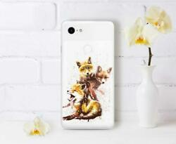 Cute Foxes Case For Google Pixel 2 XL Animal Print Gel Cover For Google Pixel 3a