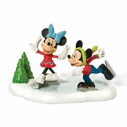 Department 56 Mickeyand039s Merry Christmas Vill Mickey And Minnie Go Skating Figurine